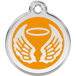 Orange colour Identity Medal Angel cat and dog, tag