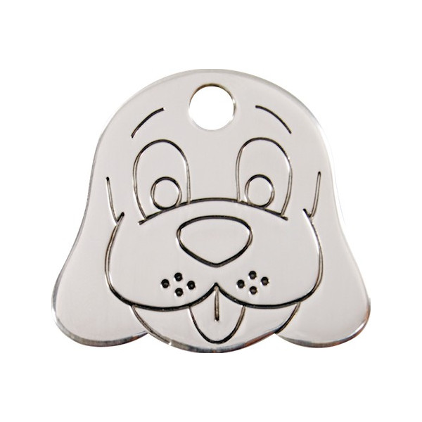 Silver Chromium Tag Identity, Funny Dog, Security Medals for cats and dogs