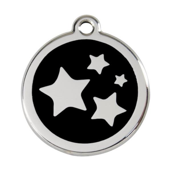 Stars Identity Medal black cat and dog, tag, night Sky
