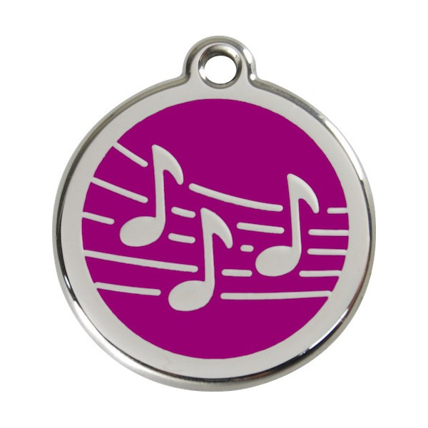 Music Notes Identity Medals - 11 Colors, cat and dog