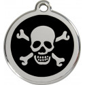 Pirate Flag Identity Medals - 11 Colors, cat and dog