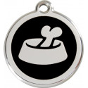 Bowl and Bone Identity Medals - 11 Colors, cat and dog