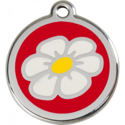 Daisy Flower Identity Medals - 11 Colors, cat and dog