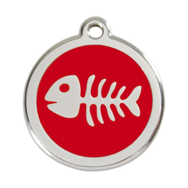 Fish Bone Identity Medals - 11 Colors, cat and dog