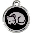 Sleeping cat Identity Medals - 11 Colors, for cats