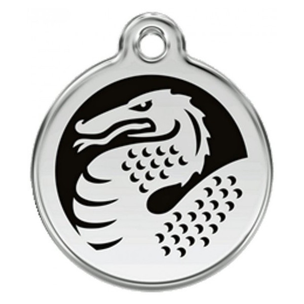 Dragon Identity Medal black cat and dog, engraved iron tag