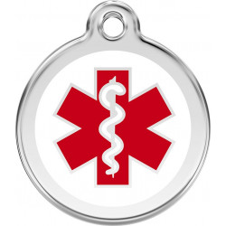 Medical emergency, red Identity Medals cat and dog