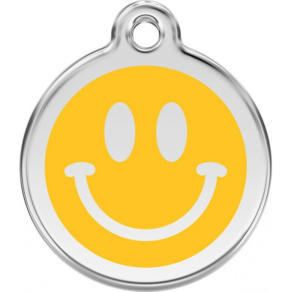 Yellow Smile Identity Medals cat and dog, tag medallion engraved