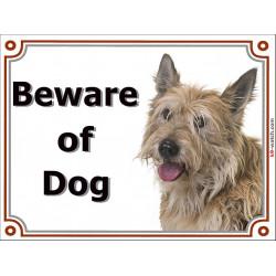 Portal Sign, 2 Sizes Beware of Dog, Berger Picard head picardy sheepdog Shepherd