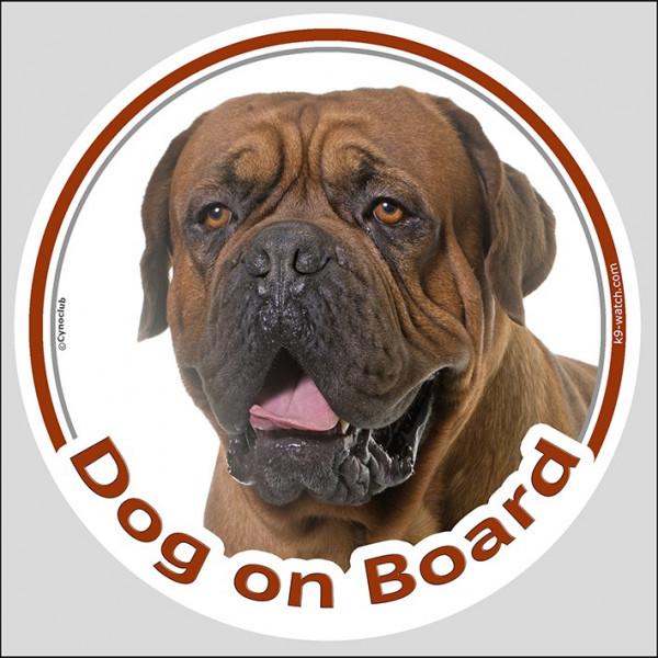 "Sticker circle sticker ""Dog on Board"" 15 cm, Black Mask ..."