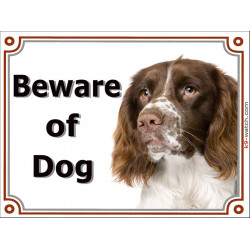 Portal Sign, 2 Sizes Beware of Dog, Welsh Springer Spaniel head, door plate, portal placard, door panel