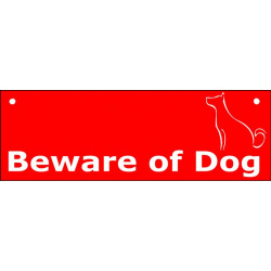 Red Portal Sign Beware of Dog