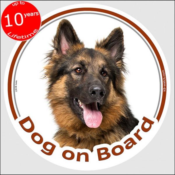 "Sticker Circle Sticker ""Dog On Board"" 15 Cm, German"