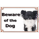 "Chihuahua head, portal Sign ""Beware of the Dog"" 24 cm"