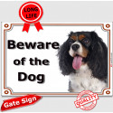 """Cavalier King Charles, portal Sign """"Beware of the Dog"""" 24 cm"""
