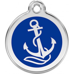 Navy Blue colour Identity Medal Anchor cat and dog, tag