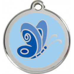 Light Sky Blue Identity Medal Butterfly, cat and dog tag