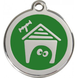 Green colour Identity Medal Dog House cat and dog, security tag kennel