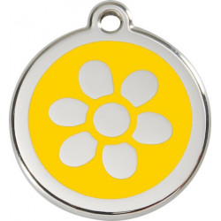 Yellow colour Identity Medal Flower cat and dog, tag