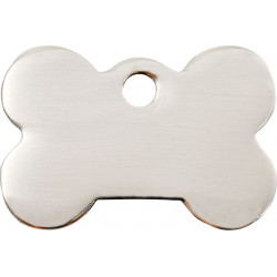 Silver Chromium colour Identity Medal Bone cat and dog, tag