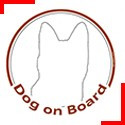 Dog on board stickers